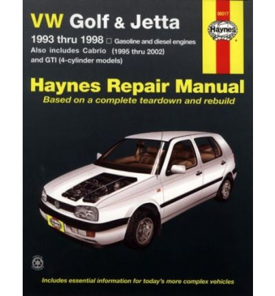 VW Golf & Jetta 1993 Thru 1998