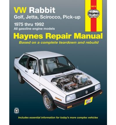 vw rabbit golf jetta scirocco pick up 1975 1992 automotive repair manual sagin workshop