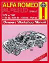 Alfa Romeo Alfasud Sprint 1974 1988 Haynes Service Repair Manual    UK