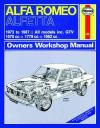 Alfa Romeo Alfetta 1973 1987 Haynes Service Repair Manual    UK