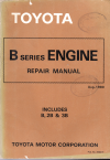 Toyota B 2B 3B engine workshop repair manual USED