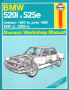 BMW 520i 525e 1981 1988 Haynes Service Repair Manual    UK