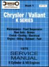 Chrysler Valiant VK Service Manual Book 1