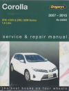 Toyota Corolla  2007-2015 Gregorys Service Repair Manual