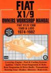 Fiat X1 9 1974 1982 Service Repair Manual   Brooklands Books Ltd UK