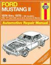 Ford Mustang 2 1974 1978 Haynes Service Repair Manual