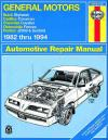 General Motors J Cars 1982 1994 Haynes Service Repair Manual