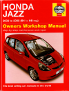 Honda Jazz 2002-2008 Haynes Service Repair Manual  USED