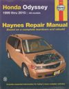 Honda Odyssey 1999 2010 Haynes Service Repair Manual