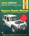 Jeep Cherokee (Liberty) 2002-2012 Haynes Service Repair Manual