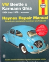 Volkswagen VW Beetle Karmann Ghia 1954 1979 Haynes Service Repair Manual