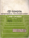 Toyota Landcruiser FJ80 HZJ80 HDJ80 Chassis/Body genuine repair manual USED