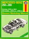 Mercedes Benz 250 and 280 W123 Series - Haynes - Workshop manual USED