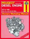 Peugeot 504 505 Diesel Engine 1974  1990 Haynes Service Repair Manual