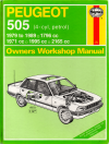Peugeot 505 Petrol 1979-1989 Haynes Service Repair Manual  USED