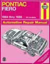 Pontiac Fiero 1984 1988 Haynes Service Repair Manual