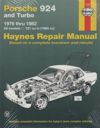 Porsche 924 and Turbo 1976 -982 Haynes Workshop Repair Manual