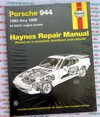 Porsche 944 1983 1989 Haynes Service Repair Manual