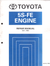 Toyota 5S-FE Engine workshop manual USED