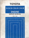 Toyota 2A 3A 3A-C 4A 4A-C 4A-GE engine repair manual USED