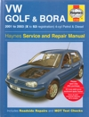 VW Golf and Bora Service and Repair manual Haynes 2001-2003  USED