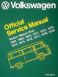 Volkswagen VW Official workshop manual Station wagon 1968-1979
