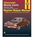 Chevrolet Monte Carlo 1970-88 V6 and V8 Owner's Workshop Manual