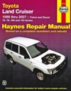 Toyota Land Cruiser Petrol Diesel 1998-2007 Haynes Service Repair Workshop Manual