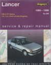 Mitsubishi Lancer 1990 1996 Gregorys Service Repair Manual