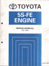 Toyota 5S-FE engine repair manual USED