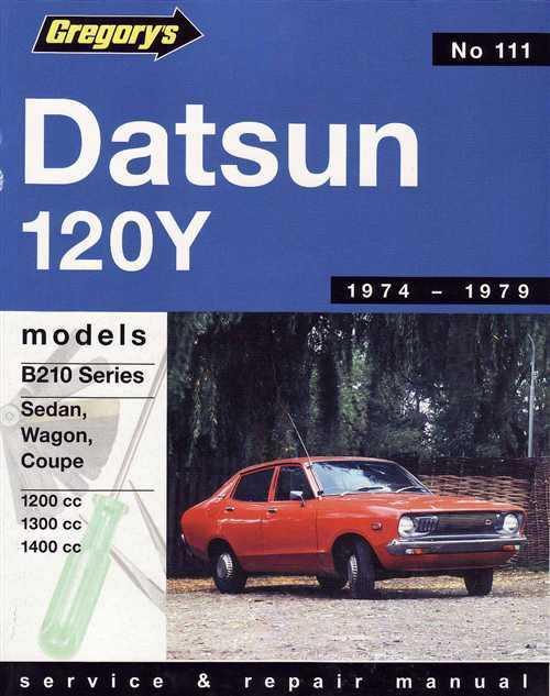Datsun 120Y 1974 1979 Gregorys Service Repair Manual ...