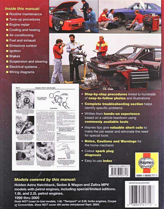 holden astra service manual download pdf