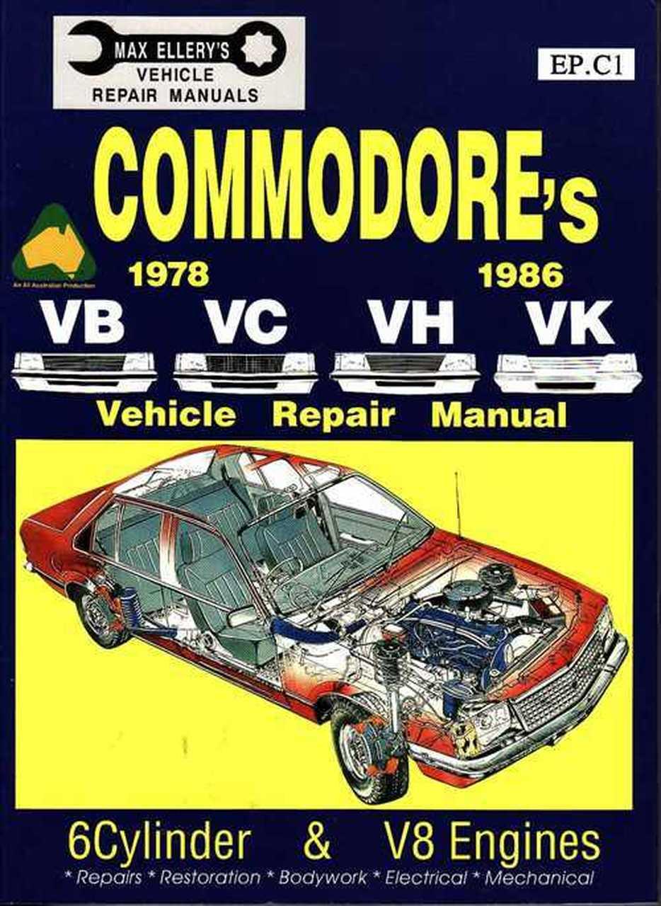 Holden Commodore Vb Vc Vh Vk 1978 1985 Haynes Service Repair Manual