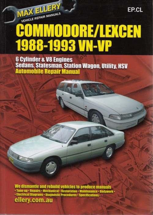 Holden Commodore Vn Vp Lexcen Repair Manual 1988
