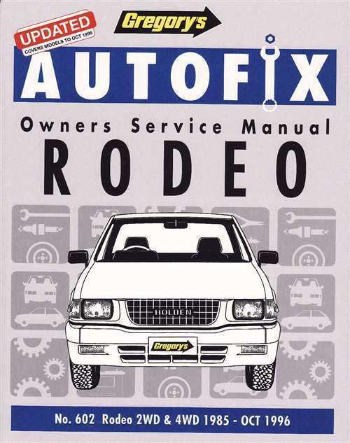 Holden       Jackaroo    Petrol 1981 1992 Autofix Workshop Manual