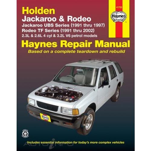 Holden Jackaroo 1991 1997 Rodeo 1991 2002 Haynes Service