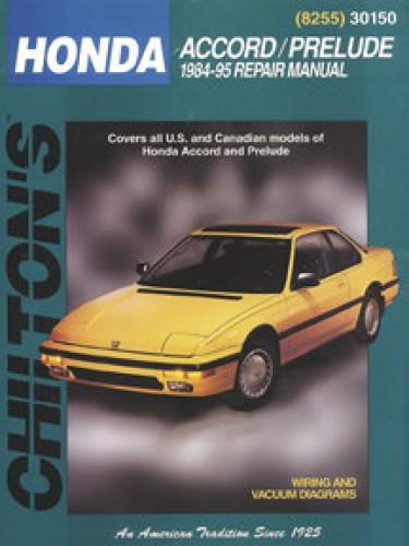 Honda Accord And Prelude  1984-95  Workshop Manual