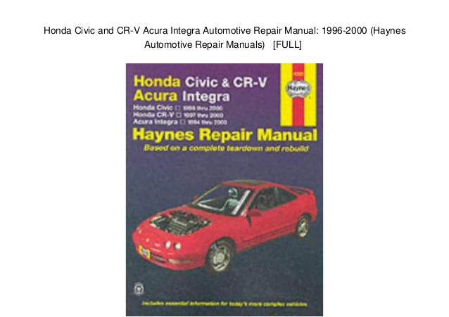 honda civic cr  crv acura integra   sagin workshop car manualsrepair books