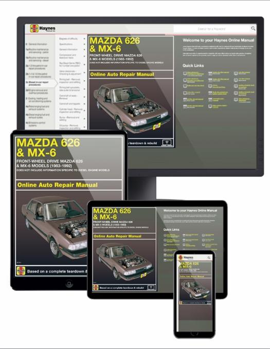 2002 mazda 626 repair manual free