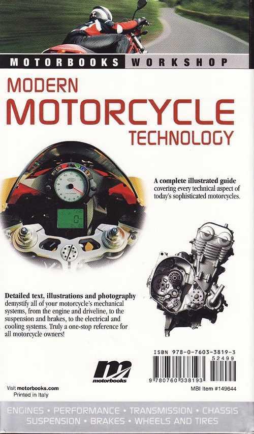 B B Modern Motorcycle Technology Back