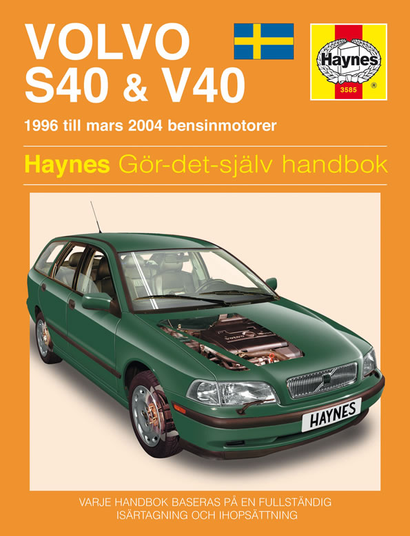 Volvo S40 And V40 Service And Repair Manual Haynes 1996